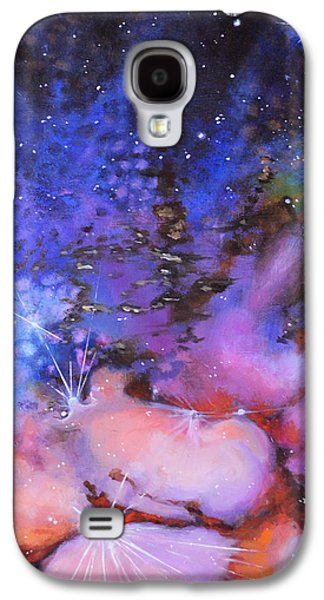 Constellations Paintings Galaxy S4 Cases - Trifid Nebula Galaxy S4 Case by Toni Wolf