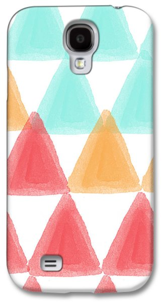 Trifold- Colorful Abstract Pattern Painting Galaxy S4 Case by Linda Woods