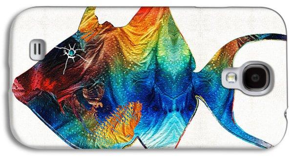 California Beach Art Galaxy S4 Cases - Trigger Happy Fish Art by Sharon Cummings Galaxy S4 Case by Sharon Cummings