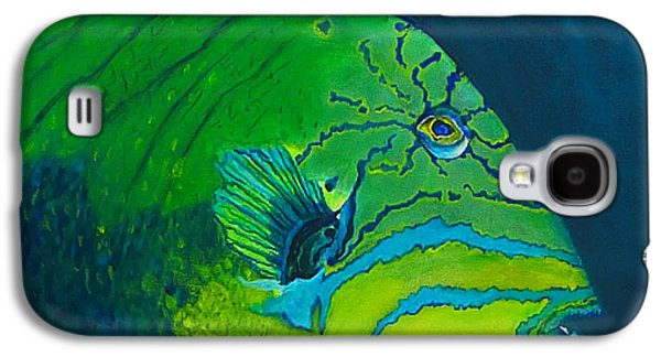 Triggerfish Paintings Galaxy S4 Cases - Triggerfish Galaxy S4 Case by Kevin Lancaster
