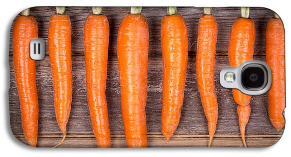 Trimmed Carrots In A Row Galaxy S4 Case by Jane Rix