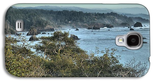Foggy Beach Galaxy S4 Cases - Trinidad Beach Landscape Galaxy S4 Case by Adam Jewell