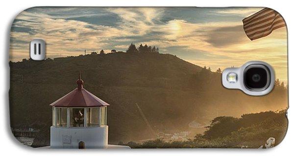 Foggy Beach Galaxy S4 Cases - Trinidad Beach Lighthouse Galaxy S4 Case by Adam Jewell