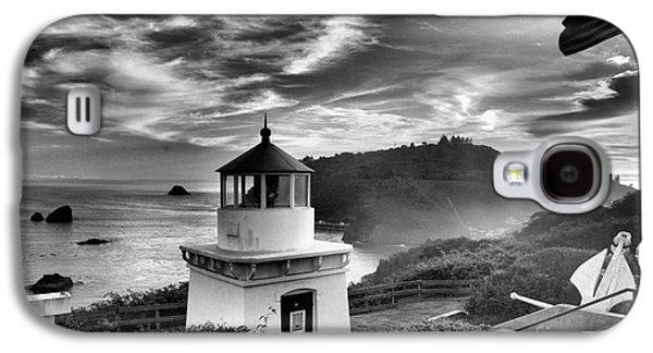 Foggy Beach Galaxy S4 Cases - Trinidad Light In Black And White Galaxy S4 Case by Adam Jewell