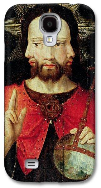 Jesus Photographs Galaxy S4 Cases - Trinitarian Christ, C.1500 Oil On Panel Galaxy S4 Case by Flemish School