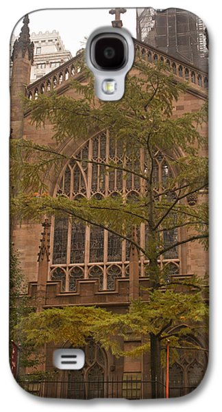 Occupy Galaxy S4 Cases - Trinity Church and Tree Galaxy S4 Case by Teresa Mucha