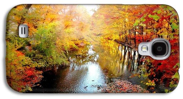Autumn Landscape Digital Art Galaxy S4 Cases - Trip Through My Mind Galaxy S4 Case by Diana Angstadt