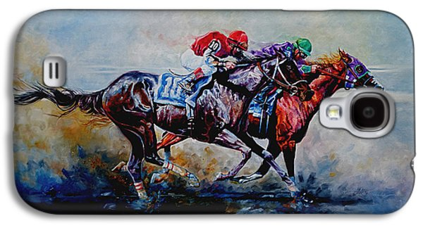 Lore Galaxy S4 Cases - The Preakness Stakes Galaxy S4 Case by Hanne Lore Koehler