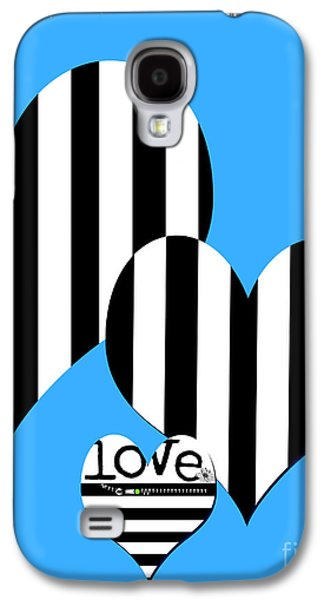 Surtex Licensing Galaxy S4 Cases - Black and White Striped Hearts Pop Art Galaxy S4 Case by Anahi DeCanio - ArtyZen Studios
