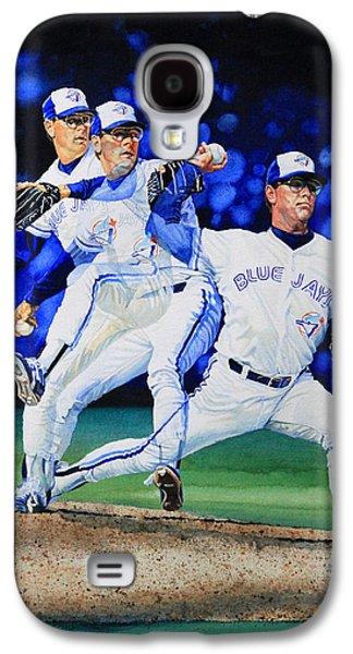 Baseball Art Galaxy S4 Cases - Triple Play Galaxy S4 Case by Hanne Lore Koehler