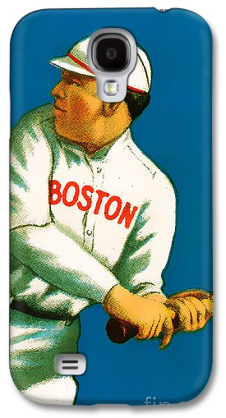 Red Sox Art Galaxy S4 Cases - Tris Speaker Boston Red Sox Baseball Card 0520 Galaxy S4 Case by Wingsdomain Art and Photography
