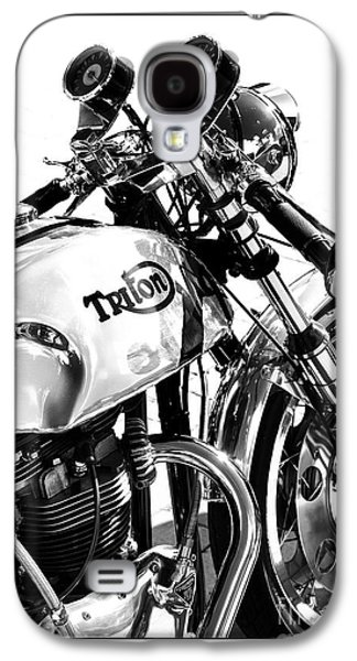 60s Photographs Galaxy S4 Cases - Triton Motorcycle Galaxy S4 Case by Tim Gainey