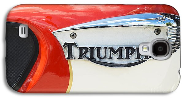 60s Photographs Galaxy S4 Cases - Triumph Tiger 90 Tank Badge Galaxy S4 Case by Tim Gainey