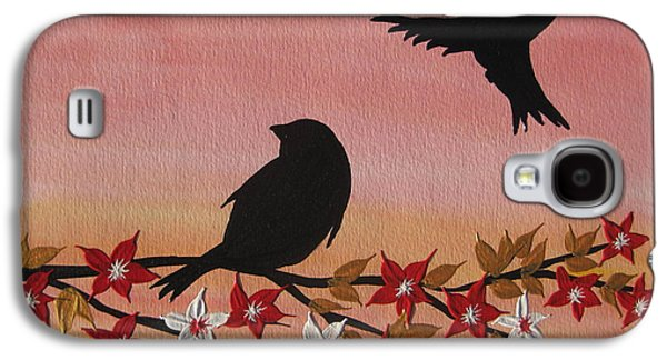 Cherry Blossoms Mixed Media Galaxy S4 Cases - Triumphant Return Galaxy S4 Case by Cathy Jacobs