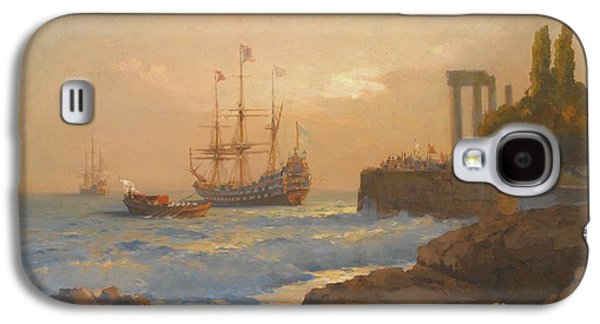 Orthodox Paintings Galaxy S4 Cases - Triumphant Ship Approaching The Harbour Galaxy S4 Case by Celestial Images
