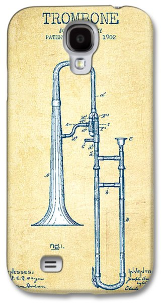 Trombone Patent From 1902 - Vintage Paper Galaxy S4 Case by Aged Pixel