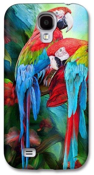 Tropic Spirits - Macaws Galaxy S4 Case by Carol Cavalaris