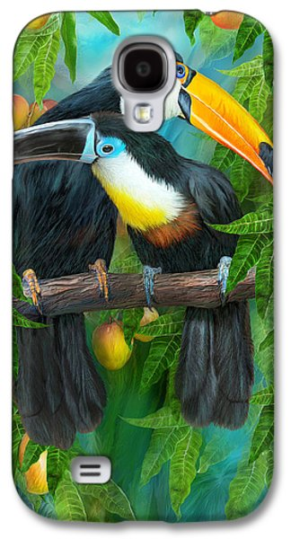 Tropic Spirits - Toucans Galaxy S4 Case by Carol Cavalaris