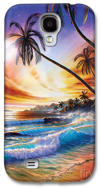 Vacation Digital Art Galaxy S4 Cases - Tropical Beach Galaxy S4 Case by Adrian Chesterman