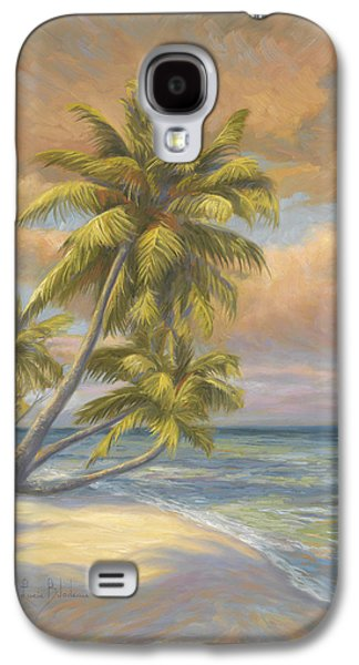 Cape Cod Paintings Galaxy S4 Cases - Tropical Beach Galaxy S4 Case by Lucie Bilodeau