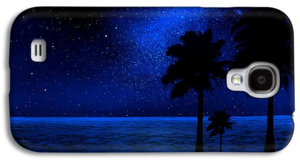 Astronomy Paintings Galaxy S4 Cases - Tropical Beach Wall Mural Galaxy S4 Case by Frank Wilson
