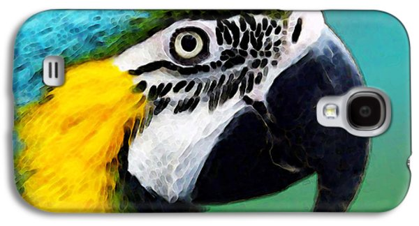 Tropical Bird - Colorful Macaw Galaxy S4 Case by Sharon Cummings