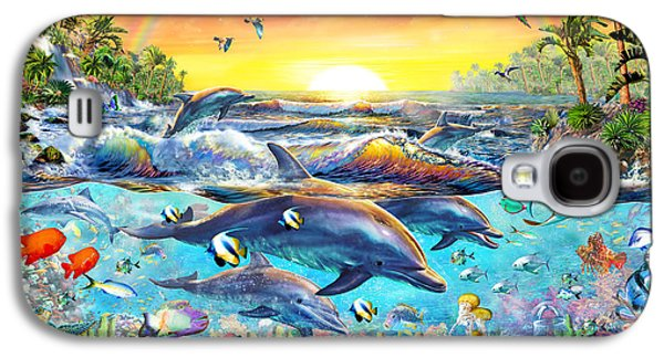 Dolphin Digital Galaxy S4 Cases - Tropical Cove Galaxy S4 Case by Adrian Chesterman