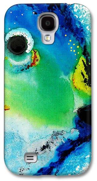 California Beach Art Galaxy S4 Cases - Tropical Fish 2 - Abstract Art By Sharon Cummings Galaxy S4 Case by Sharon Cummings