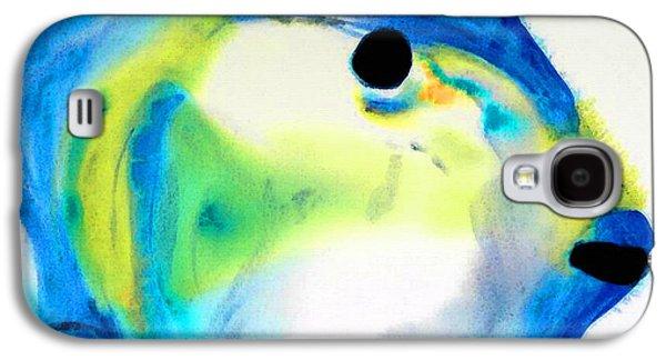 California Beach Art Galaxy S4 Cases - Tropical Fish 3 - Abstract Art By Sharon Cummings Galaxy S4 Case by Sharon Cummings