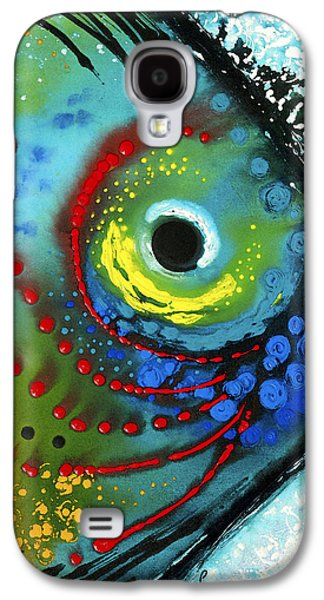 Colorful Paintings Galaxy S4 Cases - Tropical Fish - Art by Sharon Cummings Galaxy S4 Case by Sharon Cummings