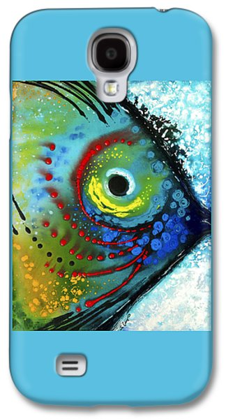 Ocean Paintings Galaxy S4 Cases - Tropical Fish - Art by Sharon Cummings Galaxy S4 Case by Sharon Cummings