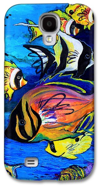 Tropical Fish Galaxy S4 Case by Karon Melillo DeVega