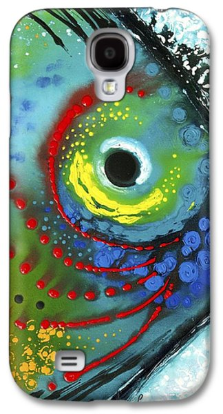 Abstract Canvas Galaxy S4 Cases - Tropical Fish Galaxy S4 Case by Sharon Cummings