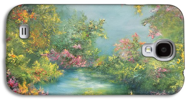 Mystical Landscape Paintings Galaxy S4 Cases - Tropical Impression Galaxy S4 Case by Hannibal Mane