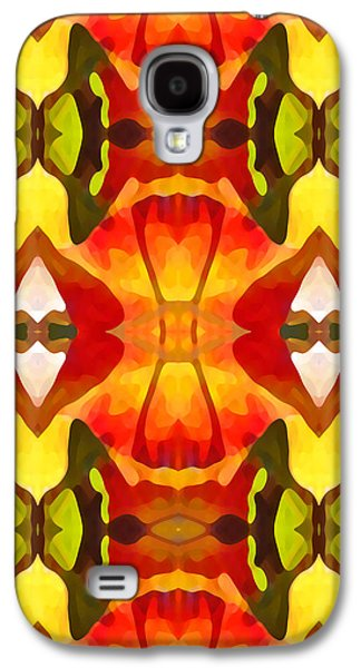 Abstract Landscape Galaxy S4 Cases - Tropical Leaf Pattern  9 Galaxy S4 Case by Amy Vangsgard