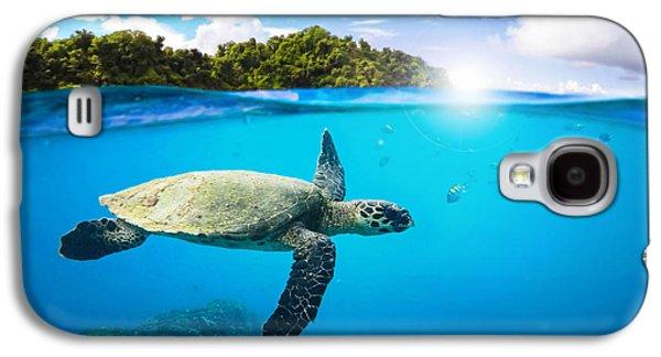 Reptiles Digital Galaxy S4 Cases - Tropical Paradise Galaxy S4 Case by Nicklas Gustafsson