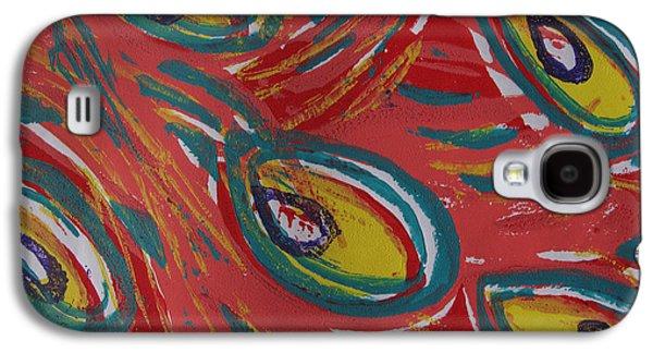 Tropical Peacock Galaxy S4 Case by Jennifer Schwab
