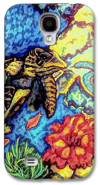 Coasting Galaxy S4 Cases - Tropical Sea Turtle Haven Galaxy S4 Case by Kimberlee  Baxter