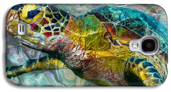 Recently Sold -  - Abstract Nature Galaxy S4 Cases - Tropical Sea Turtle Galaxy S4 Case by Jack Zulli