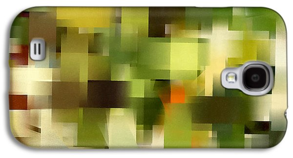 Green Modern Galaxy S4 Cases - Tropical Shades - Green Abstract Art Galaxy S4 Case by Lourry Legarde