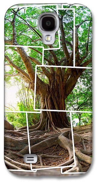Tree Roots Photographs Galaxy S4 Cases - Tropical tree Galaxy S4 Case by Alexey Stiop
