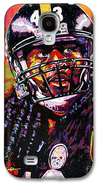 Arango Galaxy S4 Cases - Troy Polamalu Galaxy S4 Case by Maria Arango