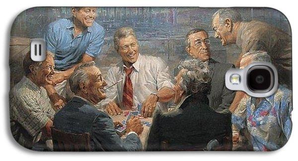 Bill Clinton Galaxy S4 Cases - True Blues Galaxy S4 Case by Andy Thomas