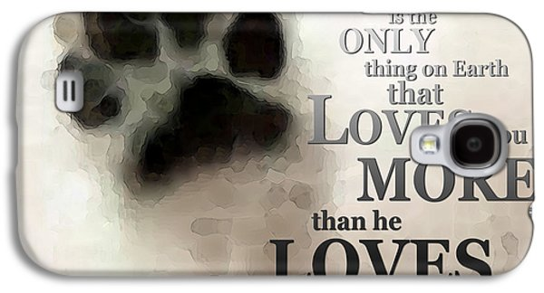Pet Digital Art Galaxy S4 Cases - True Love - By Sharon Cummings Words by Billings Galaxy S4 Case by Sharon Cummings