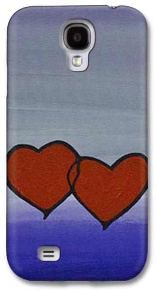 Purple Prints Galaxy S4 Cases - True Love Galaxy S4 Case by Sharon Cummings