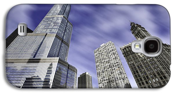 Chicago River Galaxy S4 Cases - Trump Tower and Wrigley Building Galaxy S4 Case by Sebastian Musial