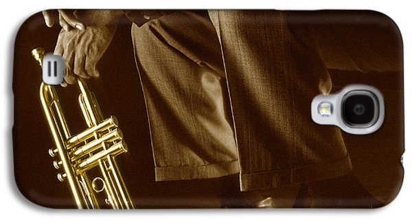 Jazz Galaxy S4 Cases - Trumpet 2 Galaxy S4 Case by Tony Cordoza