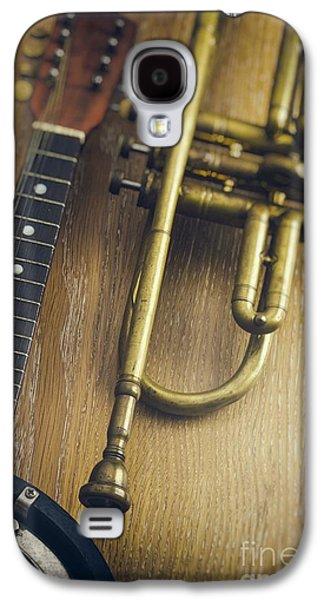 Studio Photographs Galaxy S4 Cases - Trumpet and Banjo Galaxy S4 Case by Carlos Caetano