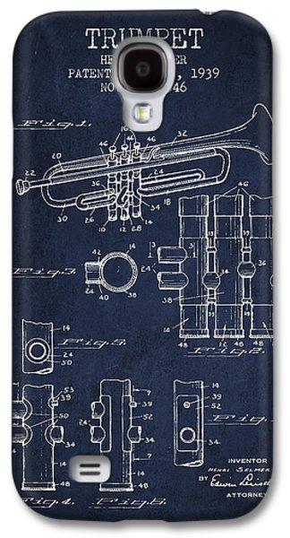 Trumpet Patent From 1939 - Blue Galaxy S4 Case by Aged Pixel