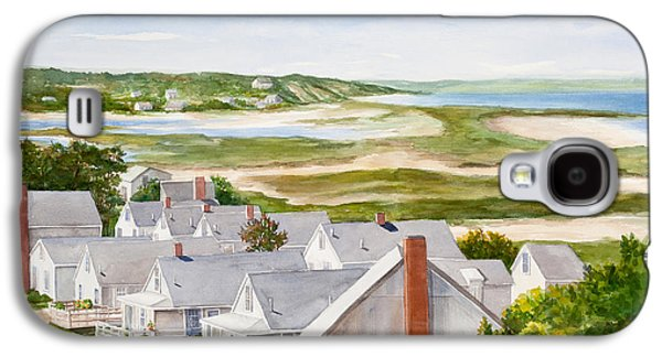 Cape Cod Paintings Galaxy S4 Cases - Truro Summer Cottages Galaxy S4 Case by Michelle Wiarda